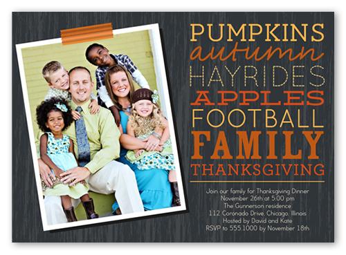 Fall Festivities Fall Invitation