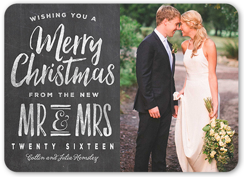 New Mr & Mrs Christmas Card