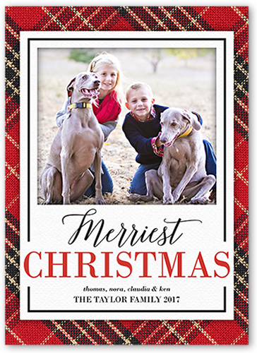 Seasonal Plaid Christmas Card