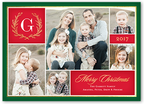 Merry Monogram Gallery Christmas Card