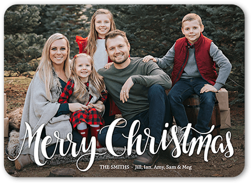 Cheery Script 5x7 Christmas Card Holiday Cards Shutterfly