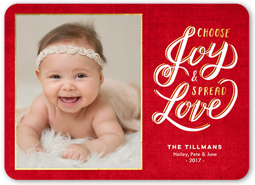 Spreading Love Frame Christmas Card, Rounded Corners