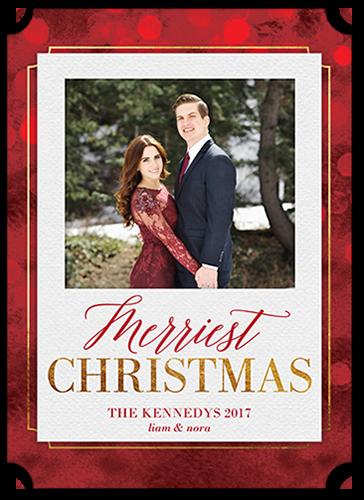 Bokeh Greeting Christmas Card