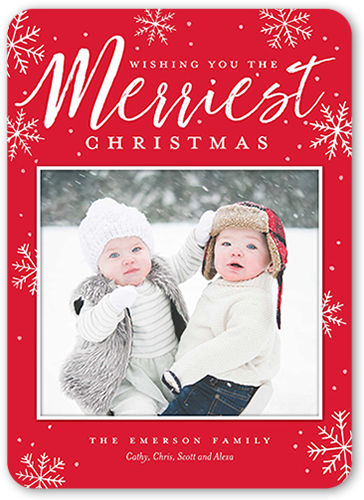 Snowy Frosted Flurries Christmas Card