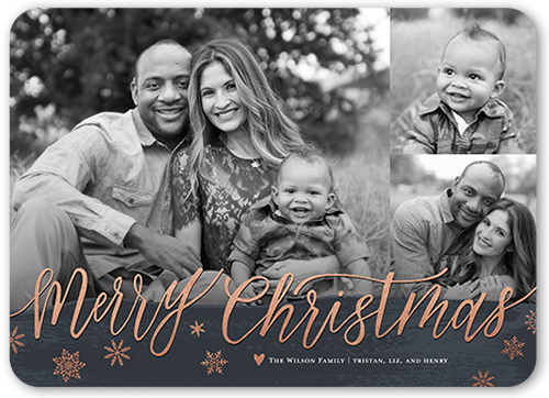 Brushed Seasonal Greeting Christmas Card