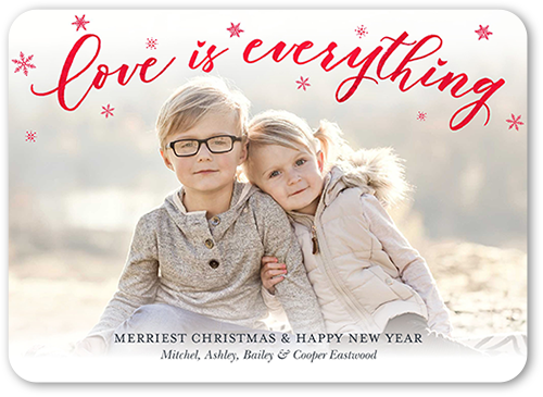 Misted Love Christmas Card, Square