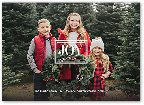 Simple Joy Christmas Card, Square Corners