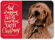 a tail wagging time christmas card