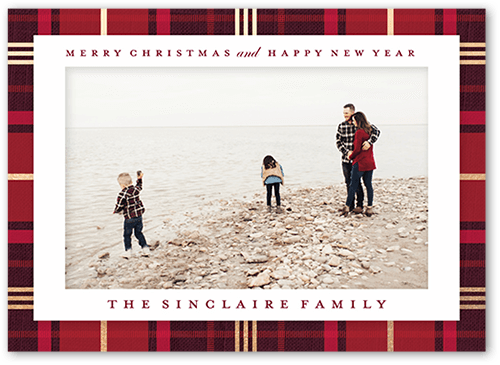 Festively Plaid Christmas Card