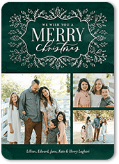 brilliant brocade christmas card