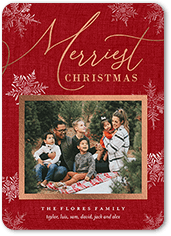 classic yuletide snow christmas card