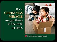 christmas miracle christmas card