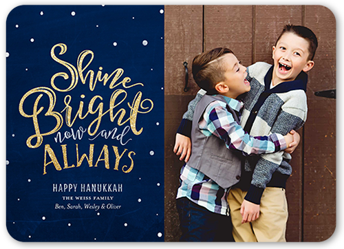 Shine Bright Always Hanukkah Card