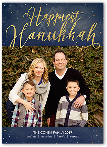 Enchanted Sentiment Hanukkah Card, Square Corners