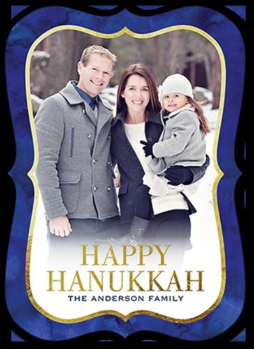 Warm Sentiments Hanukkah Card, Bracket Corners