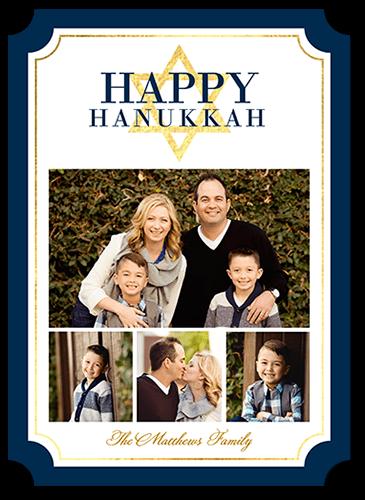 Peaceful Sentiment Hanukkah Card, Ticket Corners