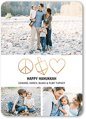 elegant symbols hanukkah card
