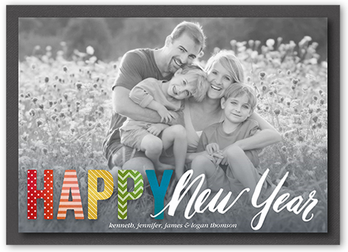 Flawless Pattern New Year's Card
