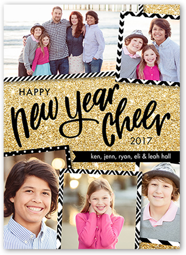 Pattern Frames New Year's Card