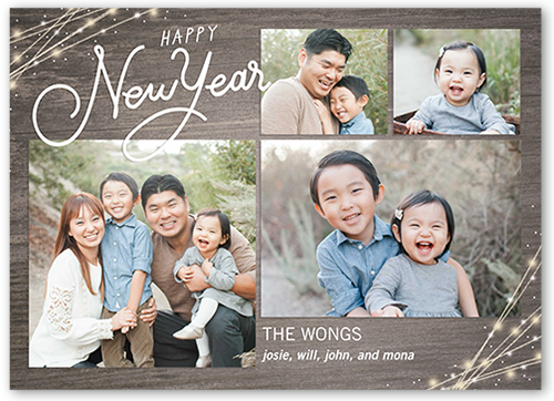 Rustic Moments New Year's Card