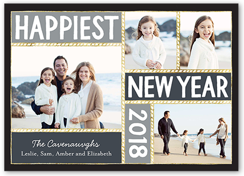 Happiest Moment New Year's Card