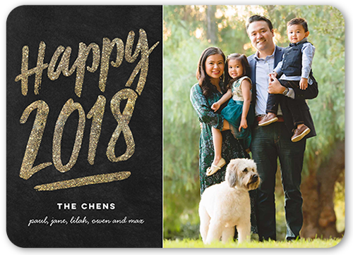 Happy Basic Greeting New Year's Card