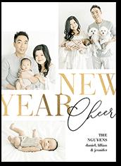 fresh year cheer new years card