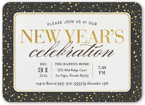 Festive Evening New Year's Invitation