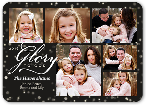 Glory To God Collage Religious Christmas Card