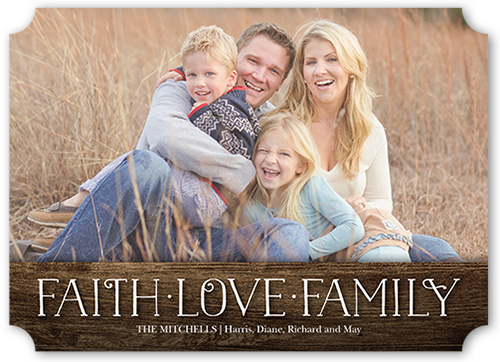Faith And Love Banner Religious Christmas Card