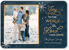 lord has come religious christmas card