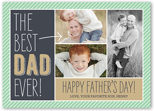 Best Dad Father's Day Card, Square Corners