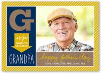 greatest grandpa fathers day card 5x7 flat