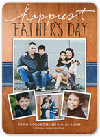 happiest handwritten fathers day card 5x7 flat