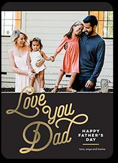 elegant dad fathers day card