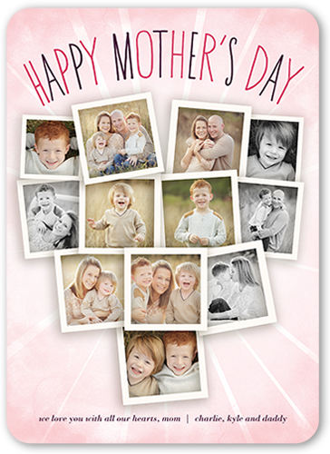 Sunburst Collage Mother's Day Card, Rounded Corners