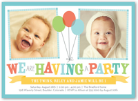 Twin Birthday Invitations Custom Invites