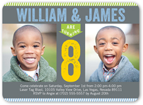 twin birthday invitations  custom twin birthday invites  shutterfly, Birthday invitations