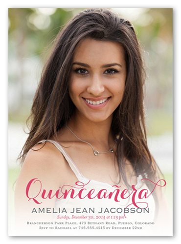 Bold Script Quinceañera