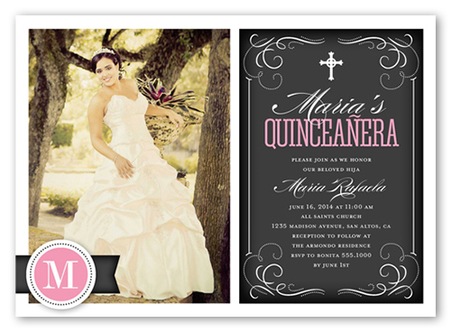 b7e06485ebb Flourishing Fifteen Quinceanera Invitations