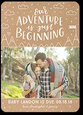 adventure begins pregnancy announcement 5x7 flat