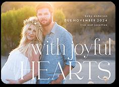 happy joyful hearts pregnancy announcement
