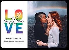 wonderful love pride month greeting card