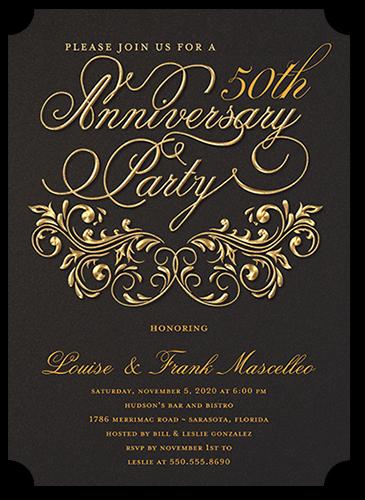 Filigree Love 5x7 Anniversary Party Invitations Shutterfly