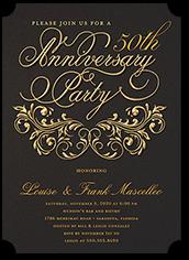 filigree love wedding anniversary invitation