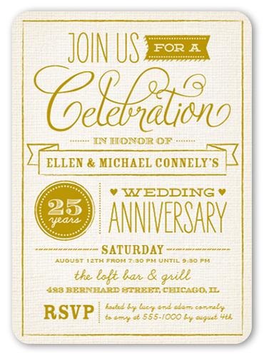 Silver Wedding Anniversary Invitations