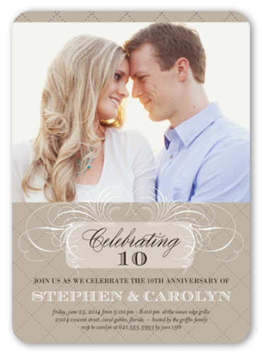 Celebrating us 5x7 invitation wedding anniversary invitations front stopboris Image collections