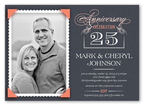 Wedding Anniversary Invitations – 25th Anniversary Party Invitations