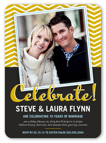 Lasting Love Chevron Wedding Anniversary Invitation, Rounded Corners