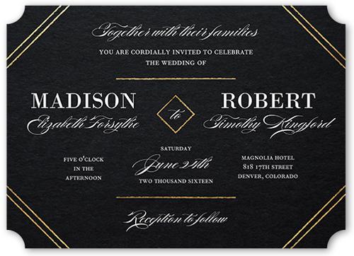 Everlasting Elegance Wedding Invitation, Ticket Corners